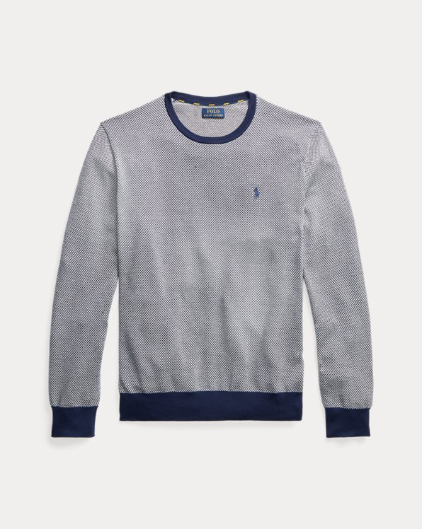 Herringbone Cotton Crewneck Jumper