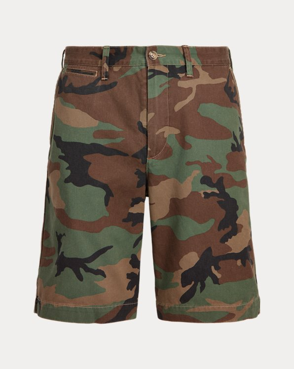 10-Inch Relaxed Fit Camo Twill Short