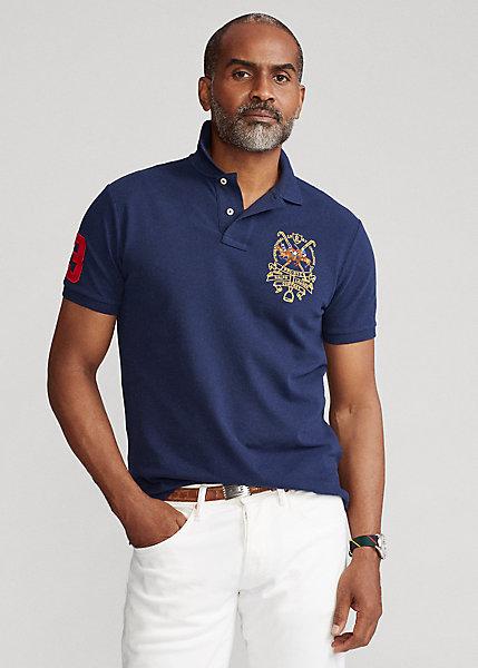 Polo Ralph Lauren Custom Slim Fit Triple Pony Polo Shirt