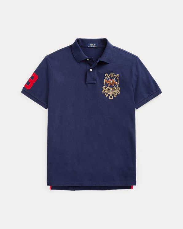 Custom Slim Fit Triple-Pony Polo Shirt
