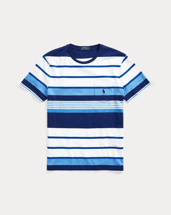 Custom Slim Fit Striped Pocket T-Shirt