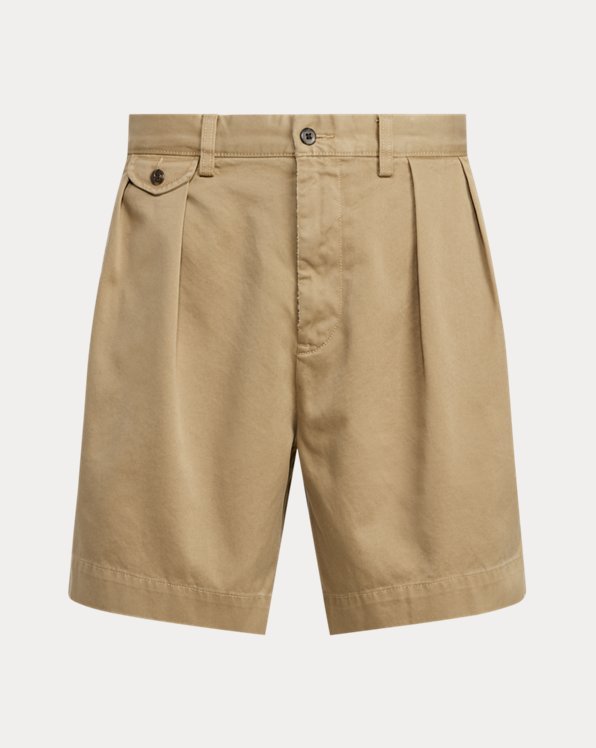 6.5-Inch Relaxed Fit Pleated Twill Short
