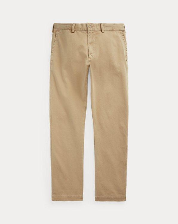 Pantalon à coupe droite fuselé en sergé