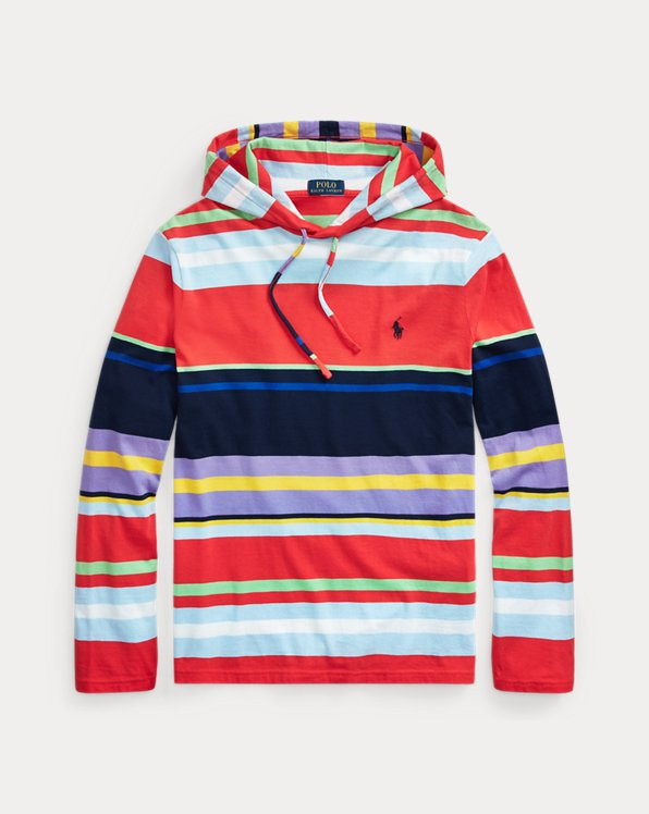 Striped Jersey Hooded T-Shirt