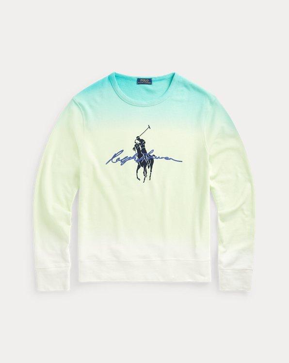 Big Pony Dip-Dyed Spa Terry Sweatshirt