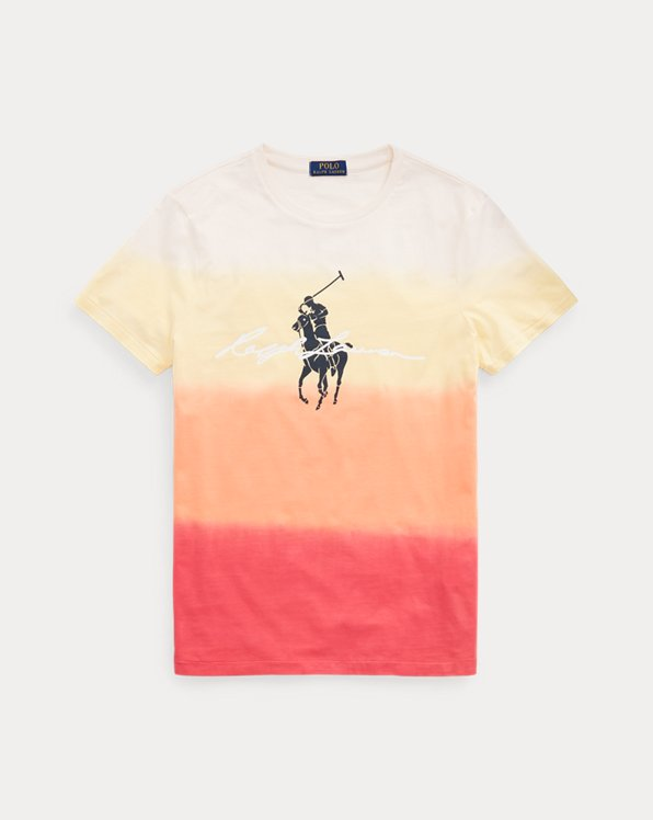 T-shirt ajusté dip-dye à motif