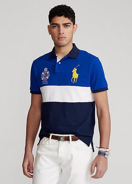 Polo Ralph Lauren Custom Slim Fit Big Pony Mesh Polo Shirt