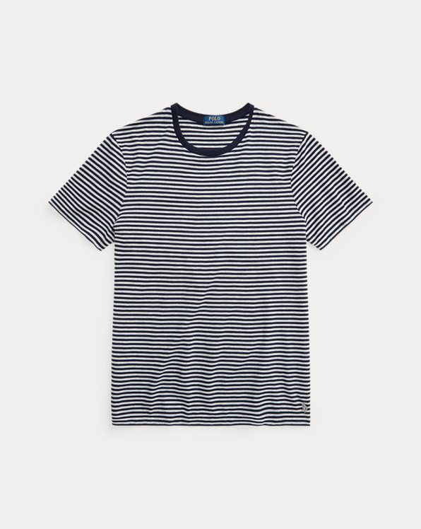 Custom Slim Fit Striped Crewneck T-Shirt