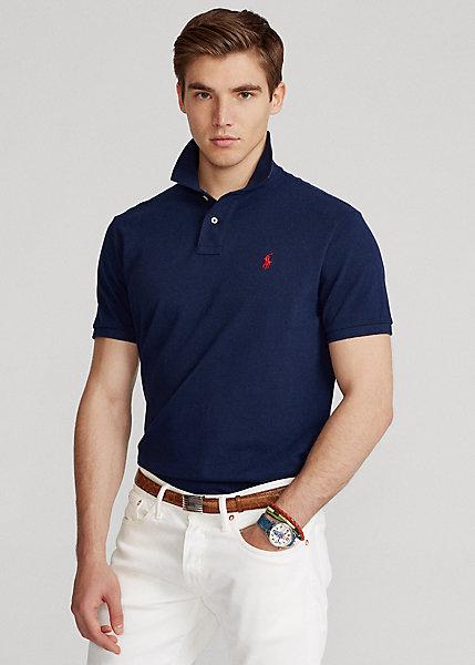 Polo Ralph Lauren Custom Slim Fit Crest Mesh Polo Shirt