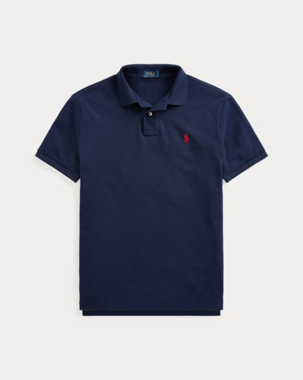Custom Slim Fit Crest Mesh Polo Shirt