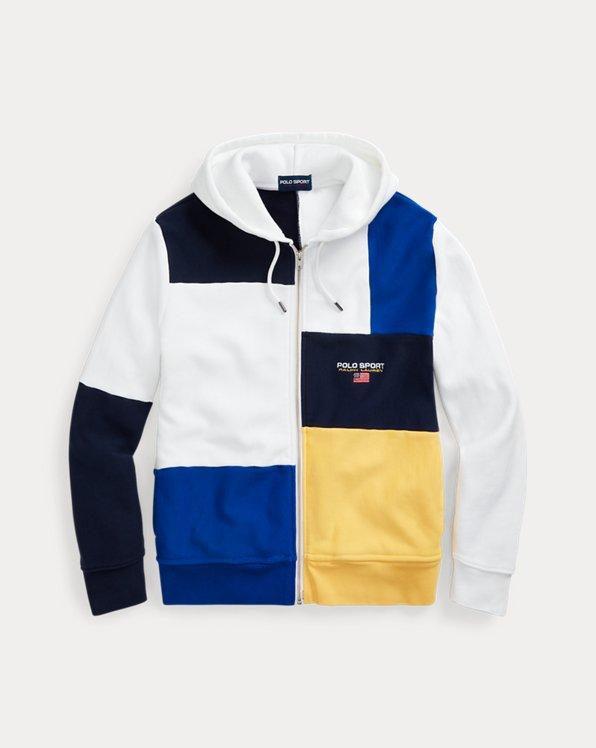 Patchwork-Kapuzenshirt Polo Sport