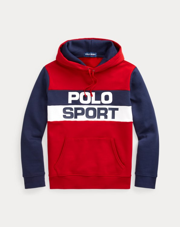 Colour-Blocked Polo Sport Fleece Hoodie