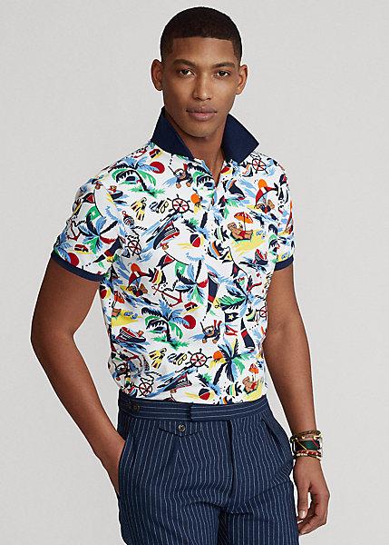 Polo Ralph Lauren Classic Fit Polo Bear Mesh Polo Shirt