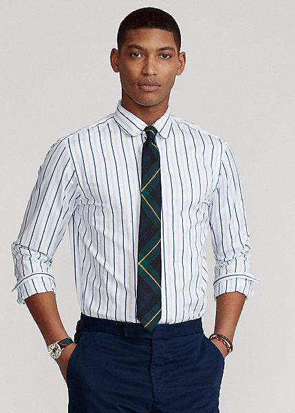 Polo Ralph Lauren Custom Fit Striped Sueded Poplin Shirt