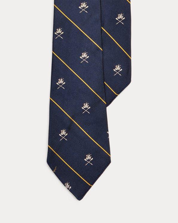 Vintage-Inspired Silk Club Tie