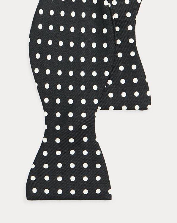 Polka-Dot Silk Bow Tie
