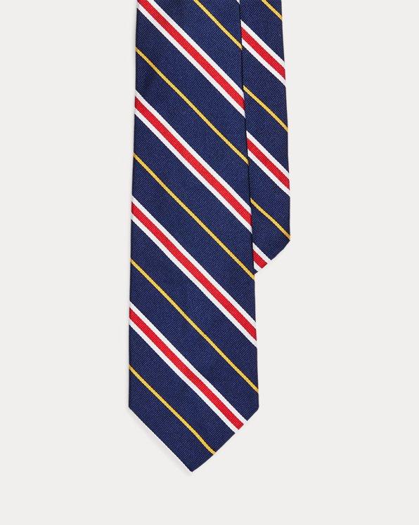 Cravatta in seta a righe