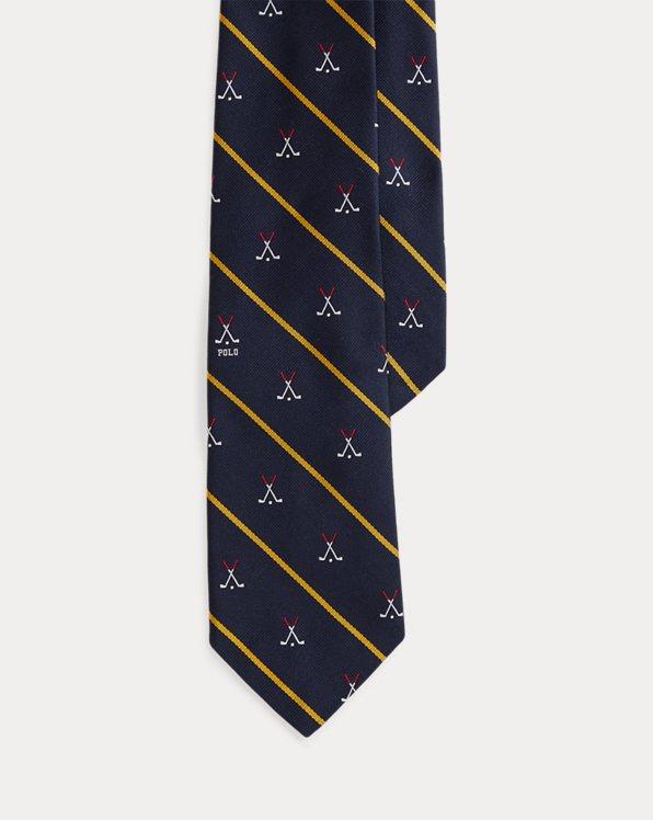 Striped Silk Golf-Club Tie