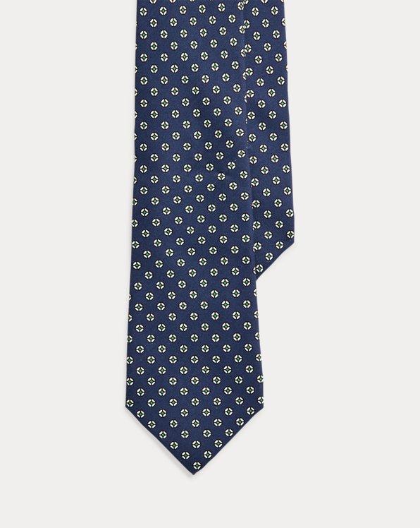 Seidenfoulard-Krawatte mit Kreisen