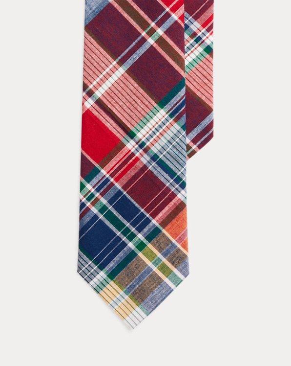 Tartan Linen Tie
