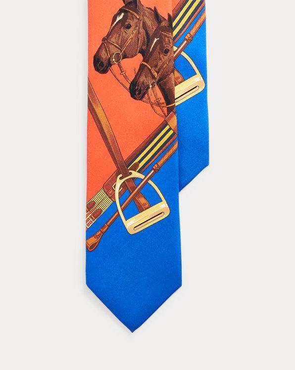 Horse Head Silk Tie
