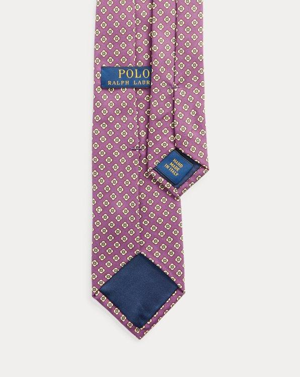 Floral Silk Foulard Narrow Tie