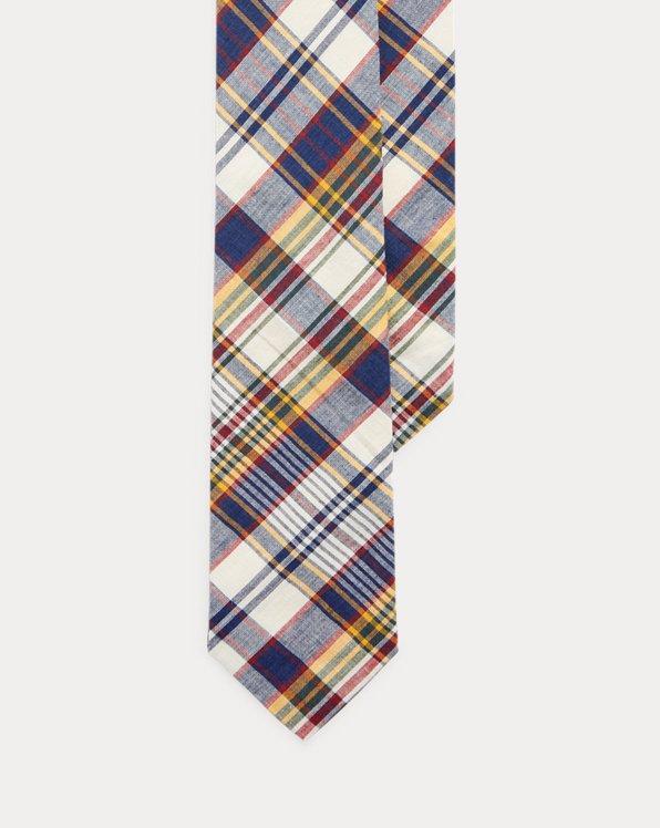 Cotton Madras Narrow Tie