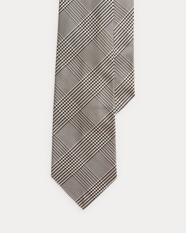 Glen Plaid Silk Tie