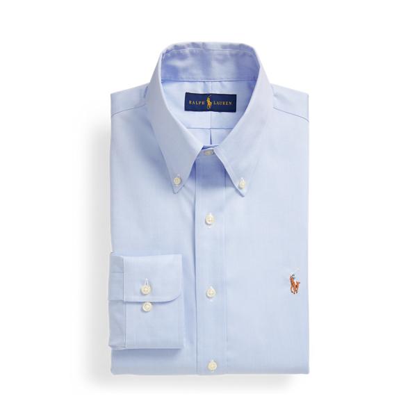 폴로 랄프로렌 셔츠 Polo Ralph Lauren Custom Fit Oxford Shirt,Light Blue/White