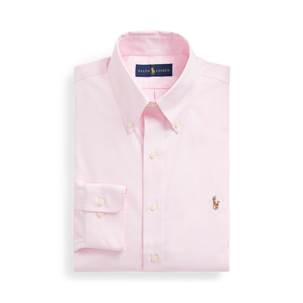 폴로 랄프로렌 셔츠 Polo Ralph Lauren Custom Fit Oxford Shirt,Pink/White