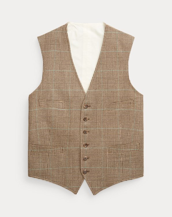 Plaid Tweed Waistcoat