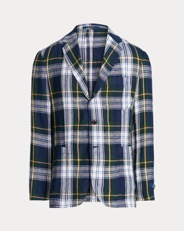 Plaid Linen Suit Jacket