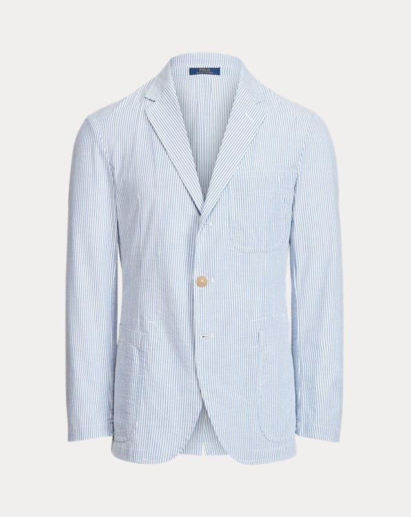 Striped Seersucker Suit Jacket