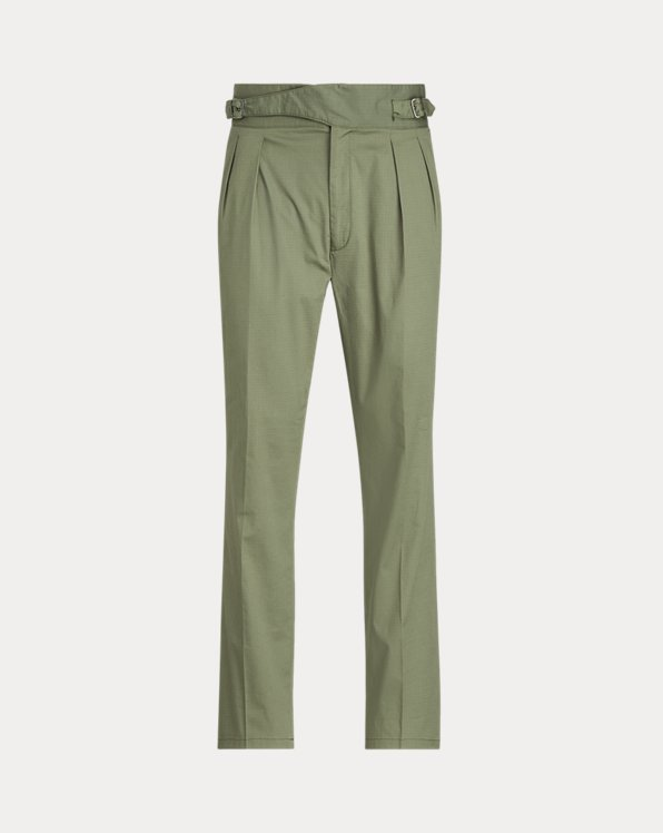 Buckled Stretch Ripstop Suit Trouser