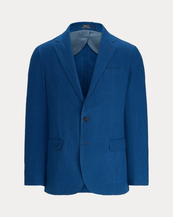 Polo Soft Indigo Seersucker Suit Jacket