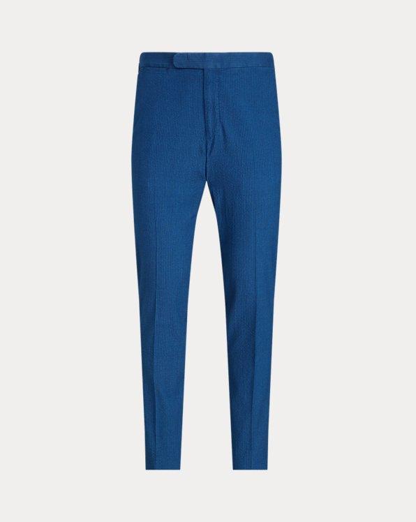 Indigo Seersucker Suit Trouser