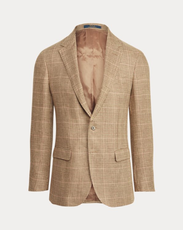 Polo Glen Plaid Linen Suit Jacket