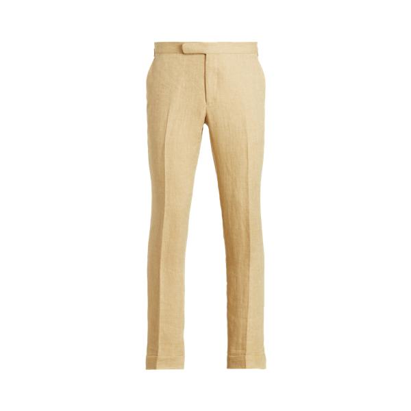 Ralph Lauren Linen Twill Suit Trouser In Tan/cream