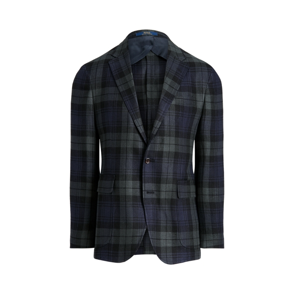 폴로 랄프로렌 Polo Ralph Lauren Polo Soft Tartan Linen Blend Sport Coat,Blackwatch