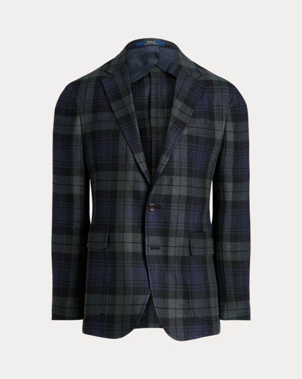 Polo Soft Tartan Linen-Blend Sport Coat