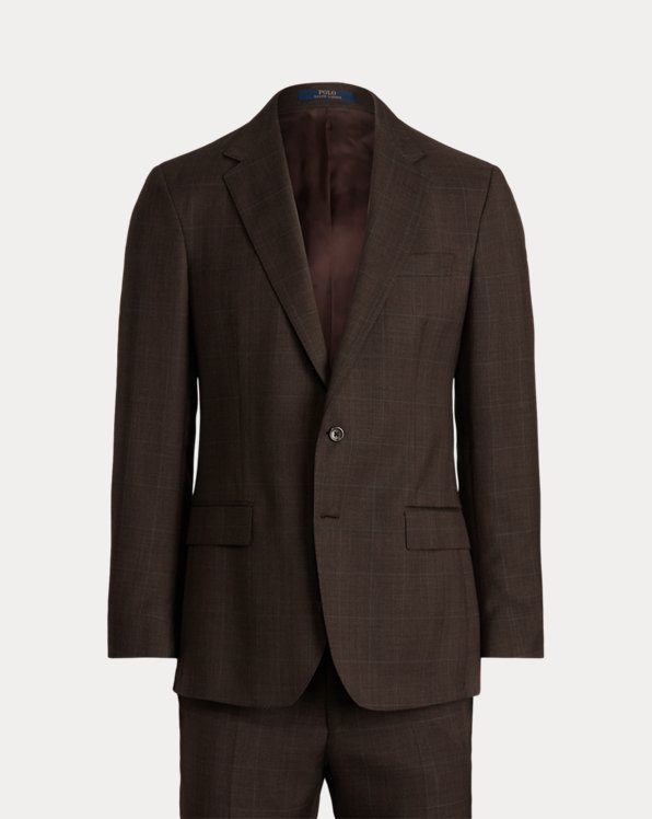 Polo Glen Plaid Wool Twill Suit