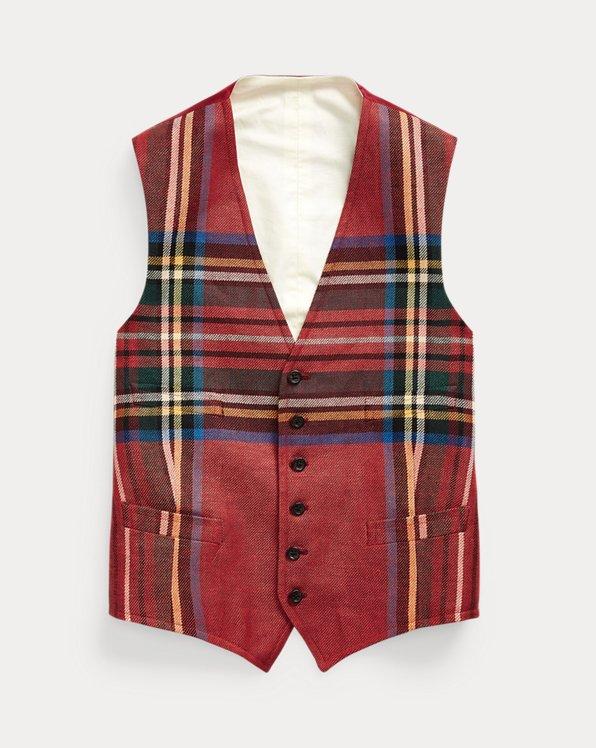 Tartan Linen Waistcoat