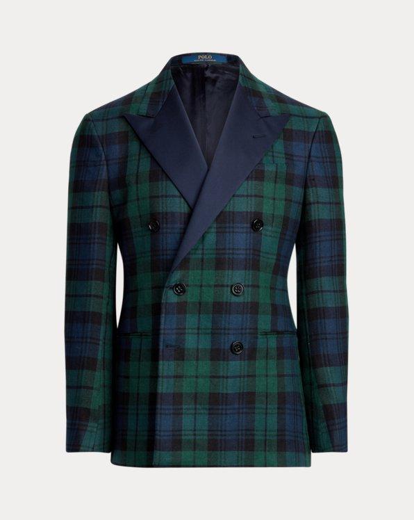 Polo Tartan Linen Tuxedo Jacket