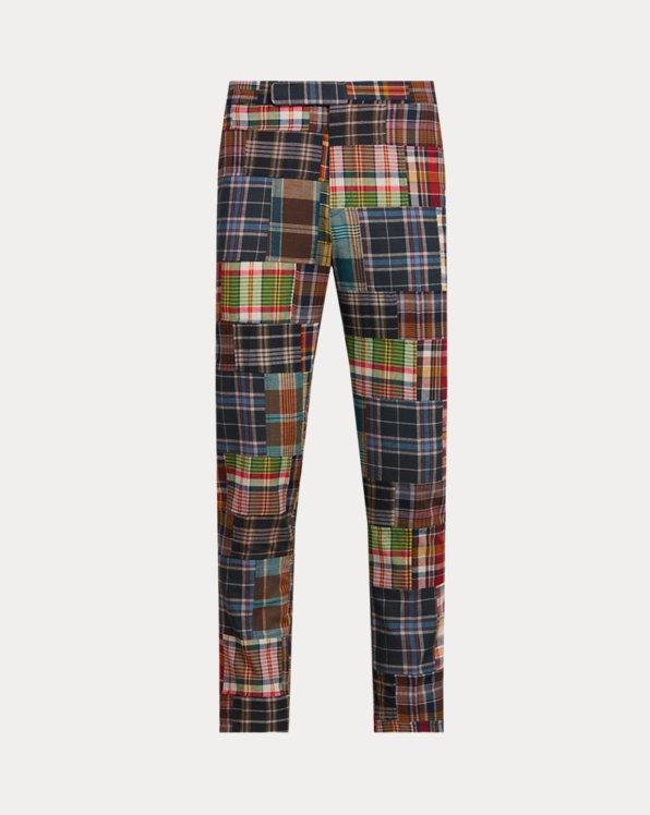 Indigo Plaid Patchwork Trouser