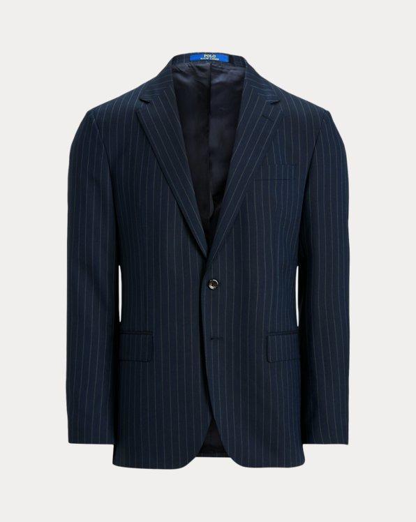 Gestreifte Anzugjacke Polo aus Wolle