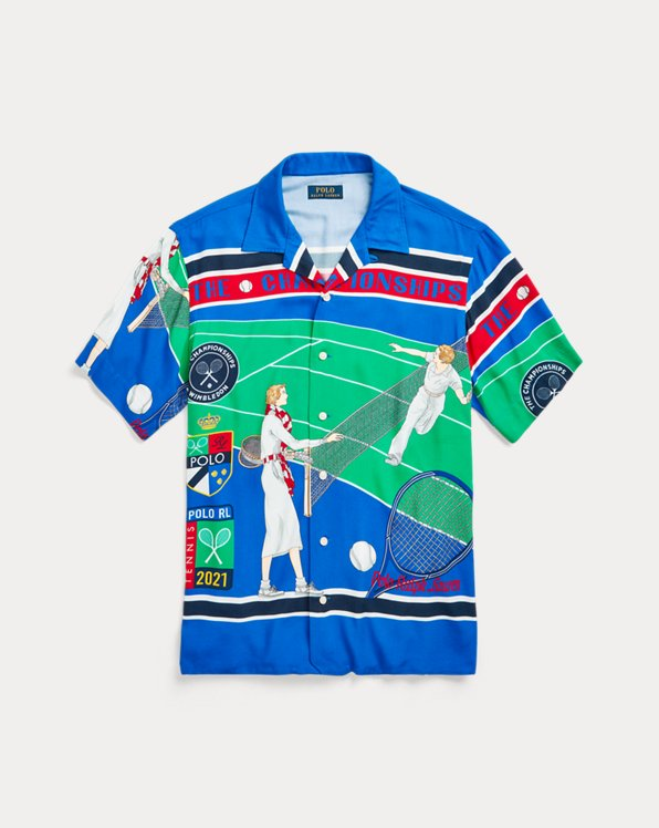 Wimbledon Classic Fit Twill Camp Shirt