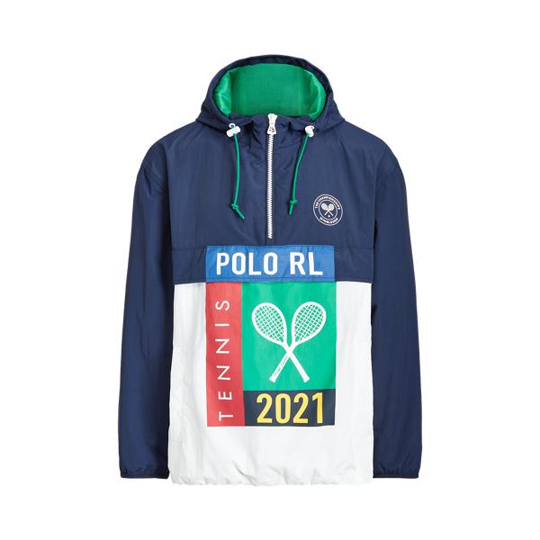 폴로 랄프로렌 '2021 윔블던 컬렉션' 맨 패커블 후드 자켓 Polo Ralph Lauren Wimbledon Packable Hooded Jacket,French Navy/Pure White
