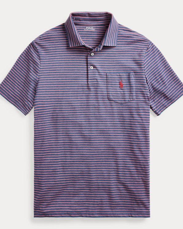 Striped Performance Jersey Polo Shirt