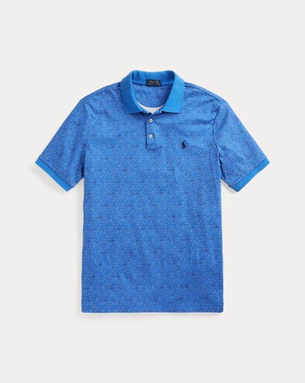 Floral-Print Soft Cotton Polo Shirt