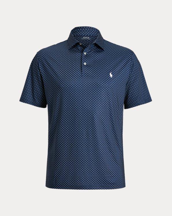 Diamond-Print Performance Polo Shirt